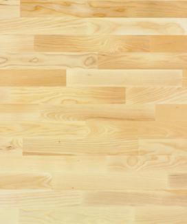 Esche / Frêne / Frassino  Ohne Bürstung  Klebeparkett  matt versiegelt  ohne Fase